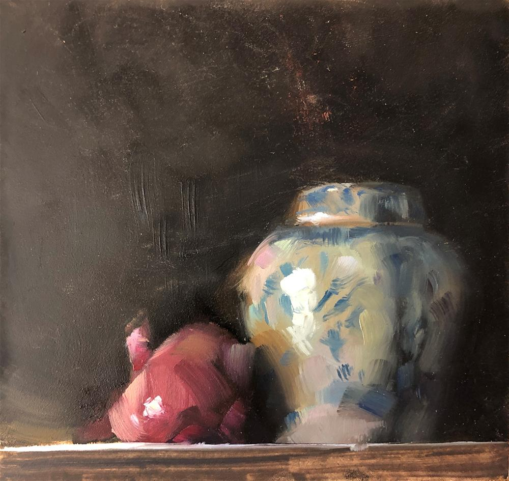 """Onion and the Ginger Jar"" original fine art by Marla Baggetta"