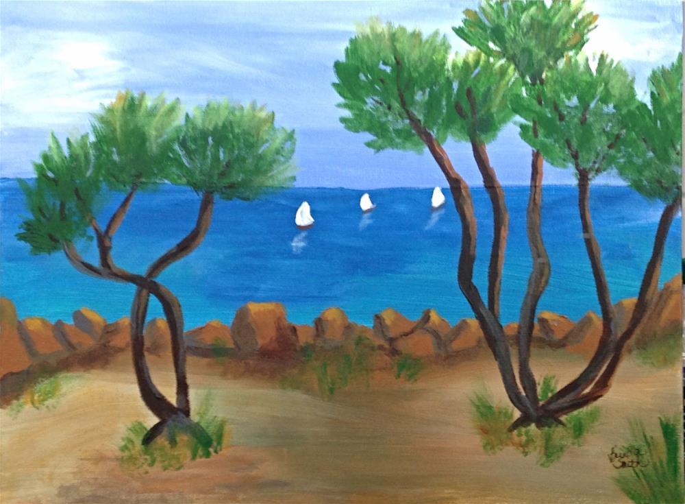 """Sea Wall"" original fine art by Brenda Smith"