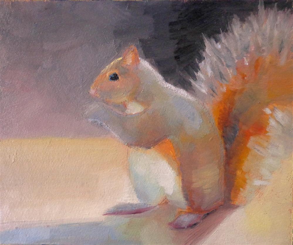 """Squirrel"" original fine art by Maria Z."