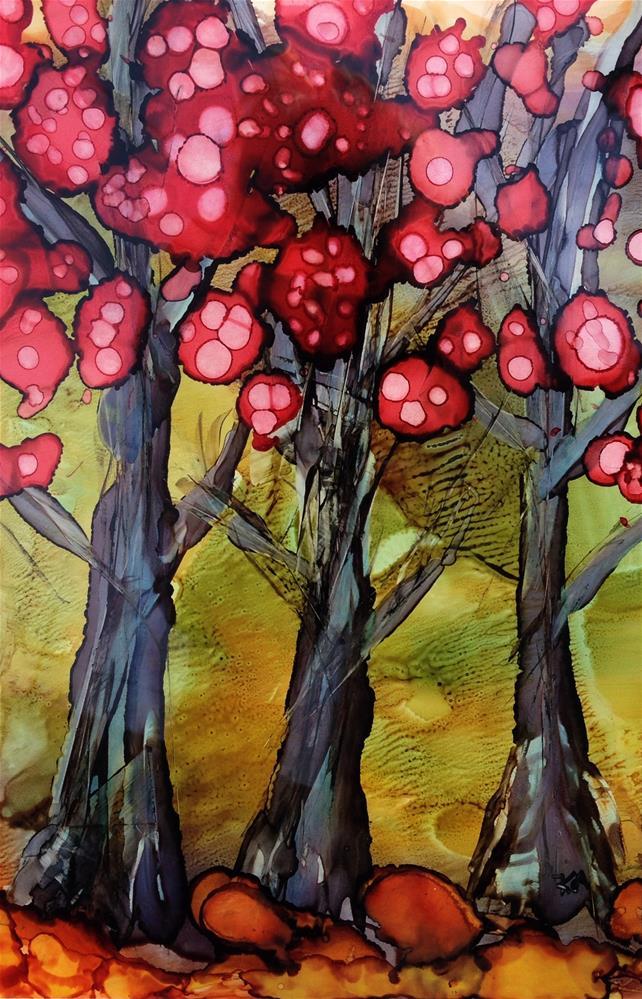 """hobbit fall"" original fine art by Kris Alge"