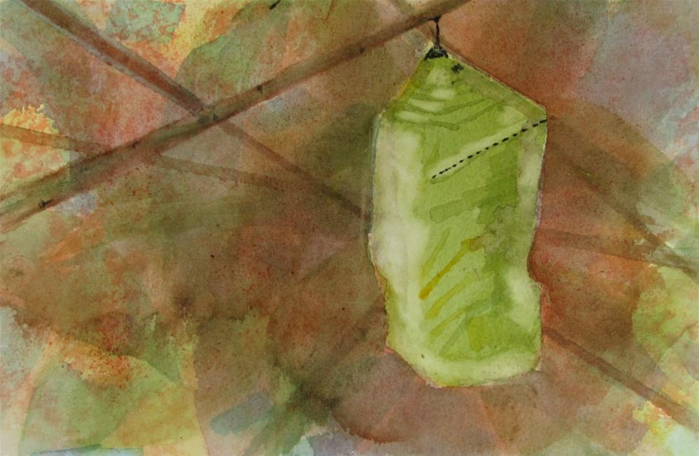 """Monarch#4 Chrysalis"" original fine art by Christine Holzschuh"
