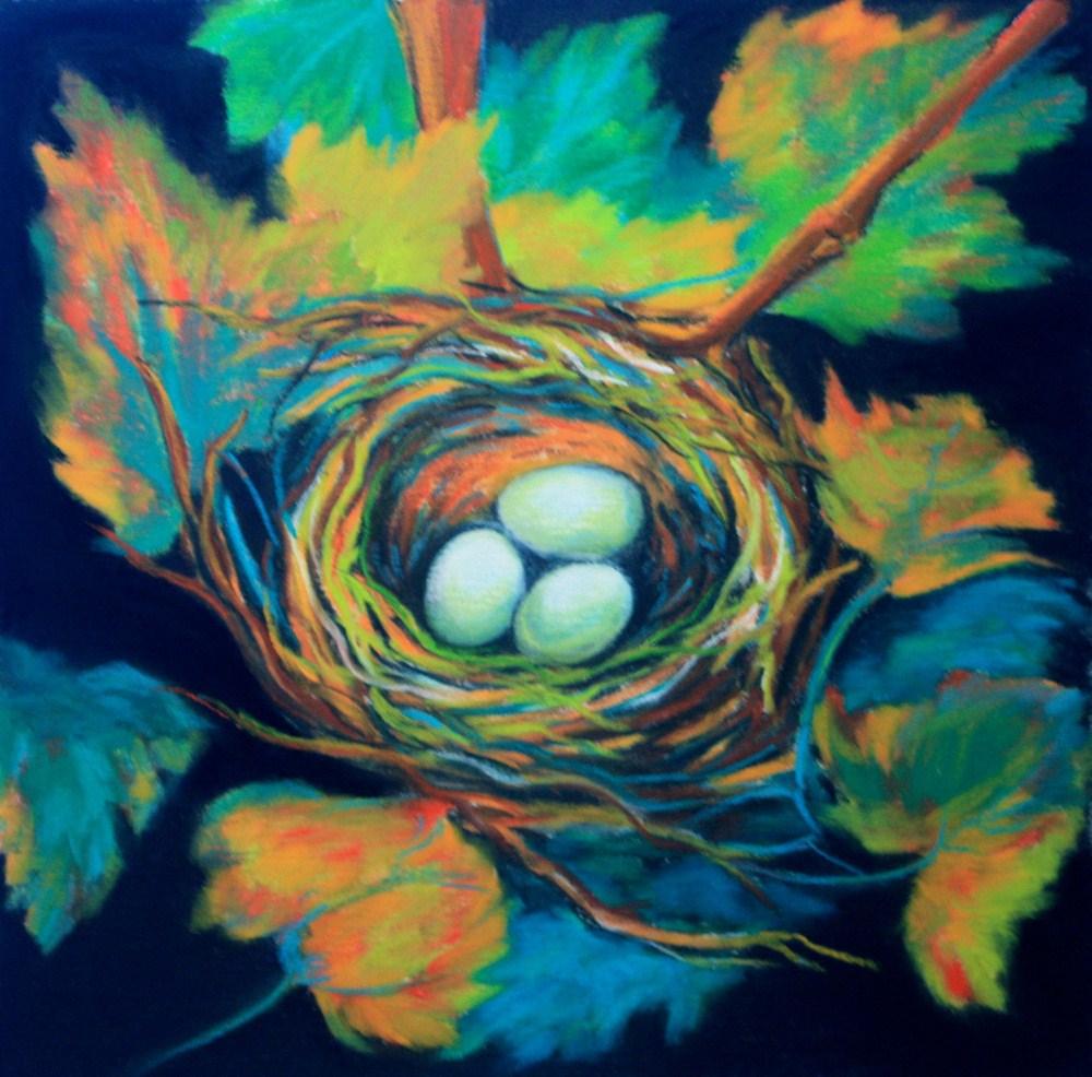 """Waiting"" original fine art by Jill Bates"
