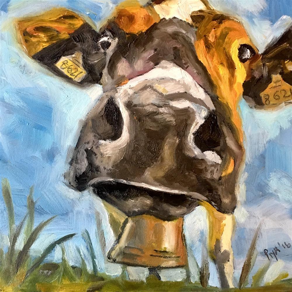 """Good Moo-rning"" original fine art by Piya Samant"