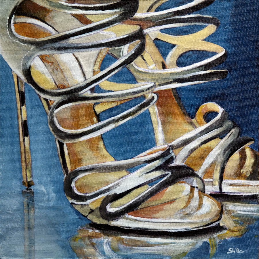 """2345 Gold Sticks"" original fine art by Dietmar Stiller"