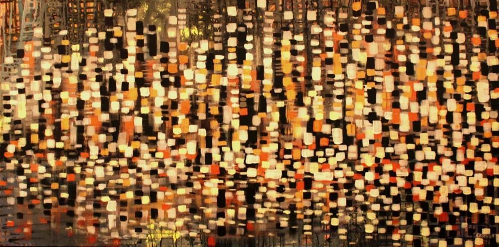 """Citylight"" original fine art by Khrystyna Kozyuk"