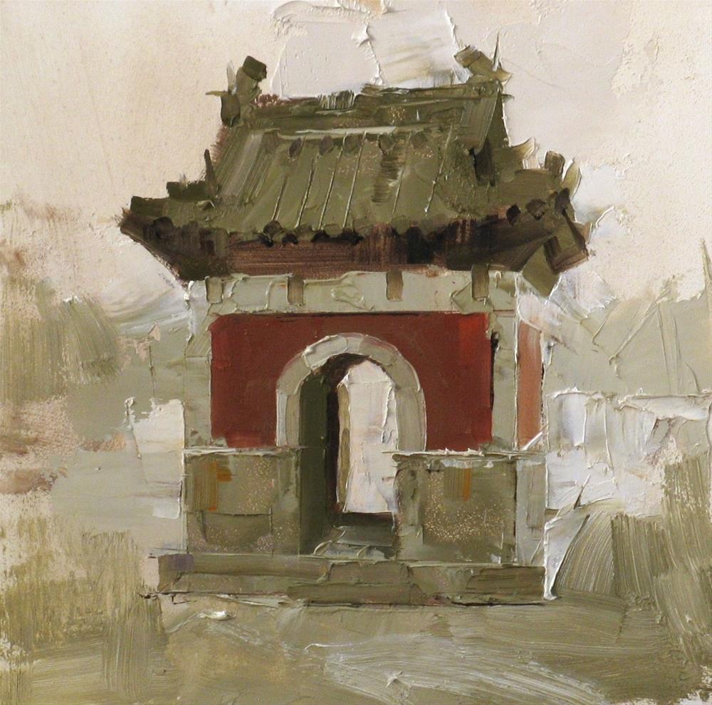 """""""""""Flower Spirit Temple"""" original fine art by Qiang Huang"""