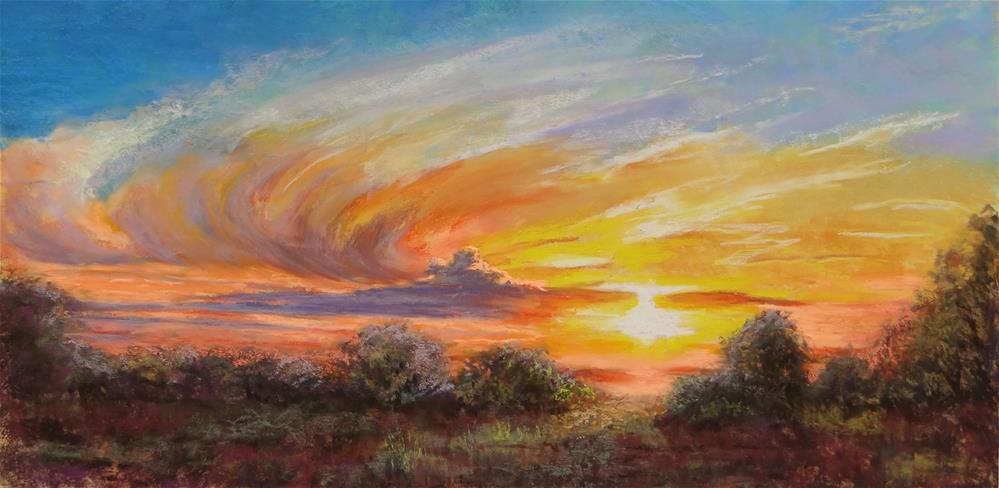 """Fire in the Sky"" original fine art by Denise Beard"