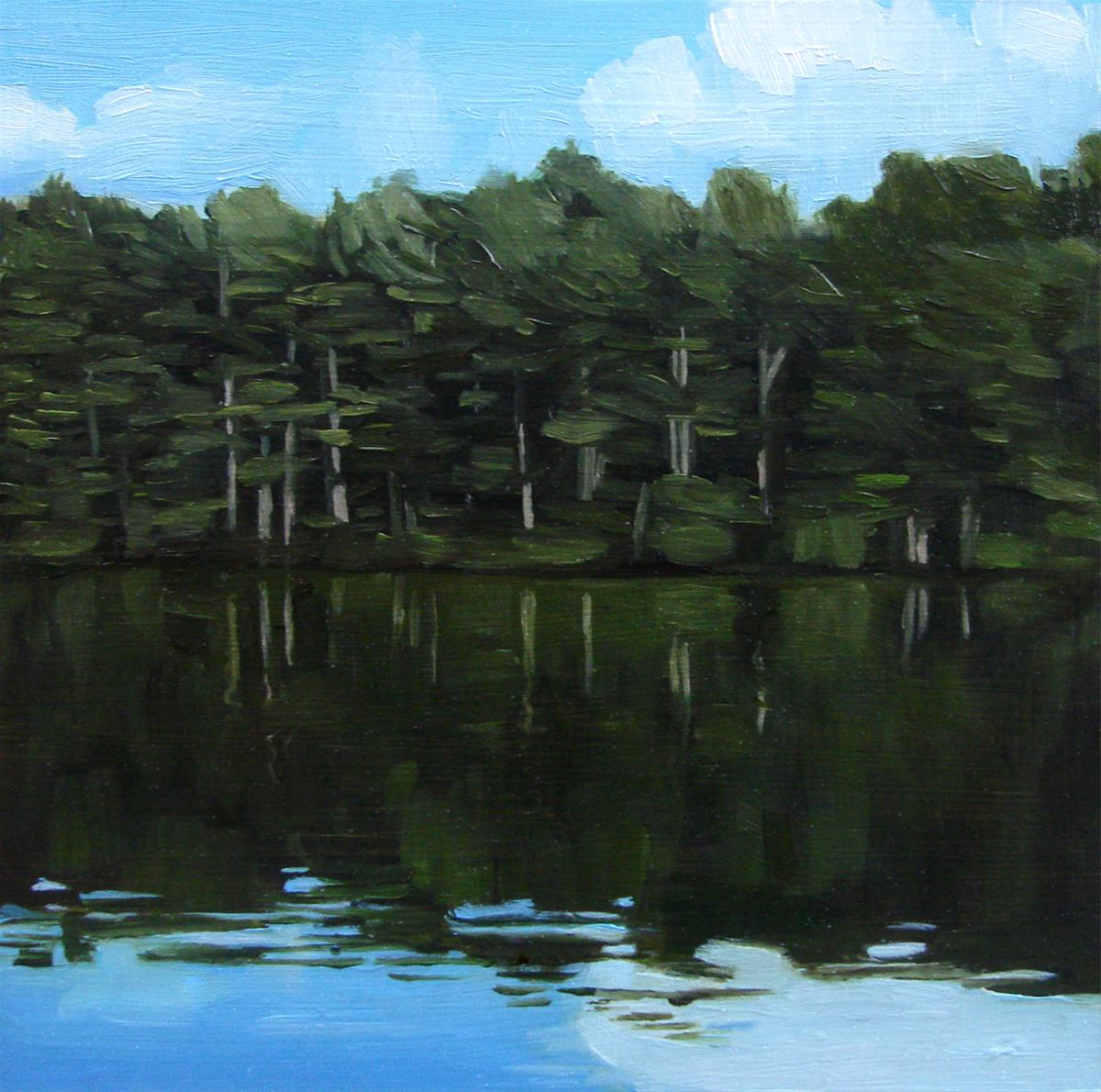 """Lake Monomanoc Treeline, NH (NO.39)"" original fine art by Michael William"