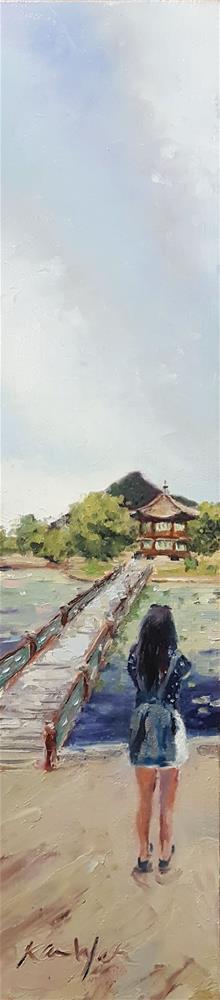 """Taking Pictures in Seoul"" original fine art by Karen Weber"