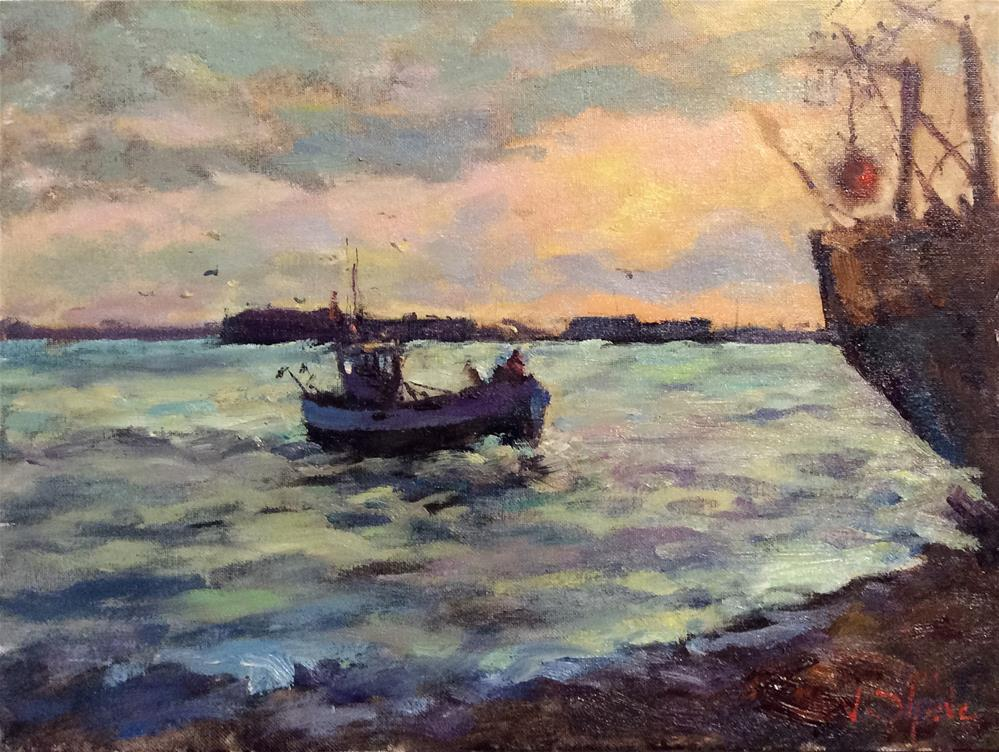 """""""Home With The Catch"""" original fine art by John Shave"""