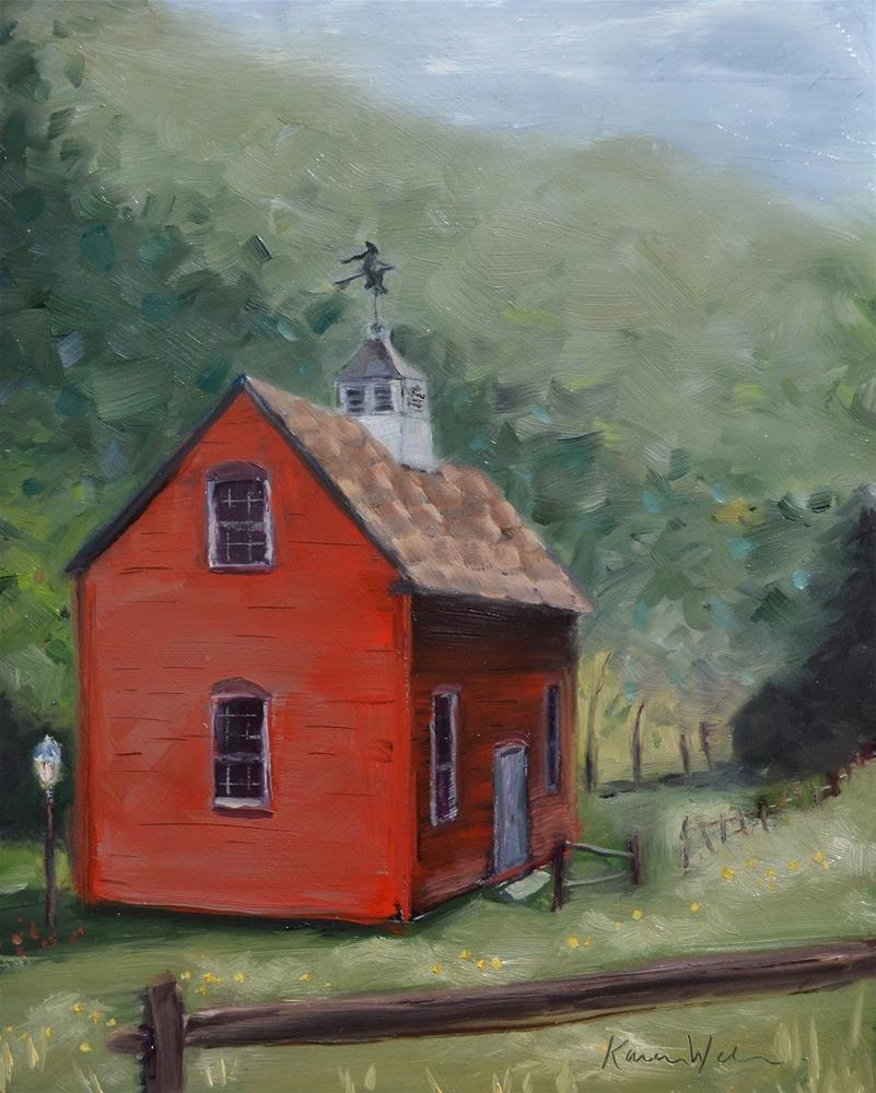 """The Witch's Cottage"" original fine art by Karen Weber"