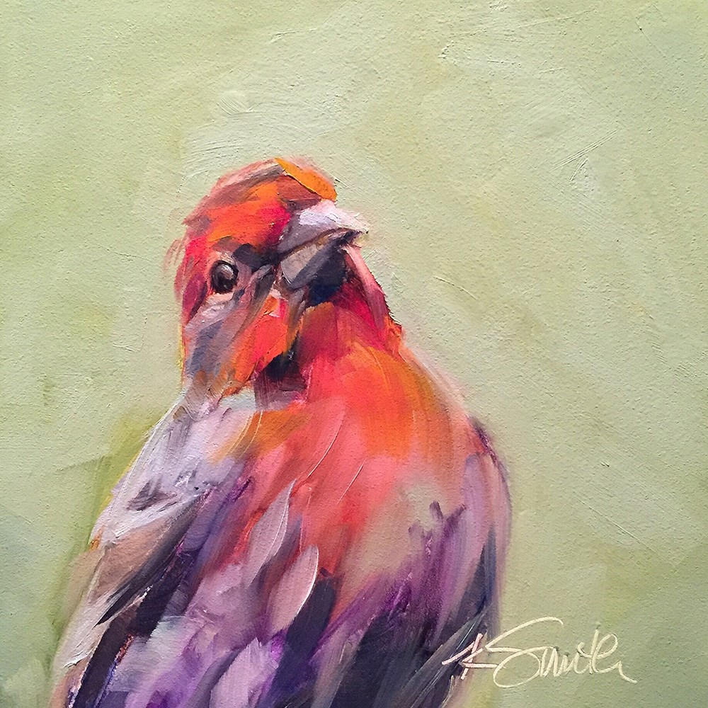 """finch"" original fine art by Kim Smith"