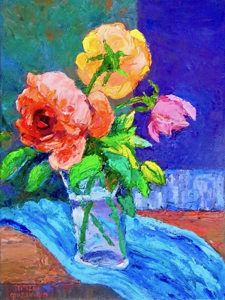 """The Subject is Roses"" original fine art by Patricia Musgrave"