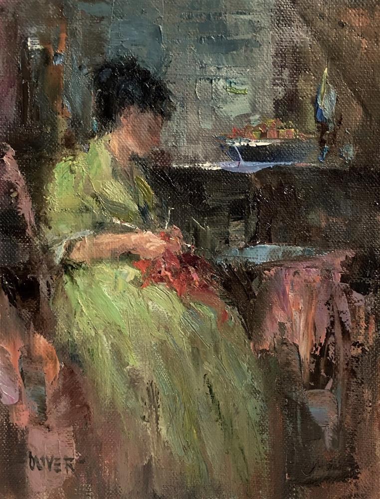 """""""The Knitter"""" original fine art by Julie Ford Oliver"""