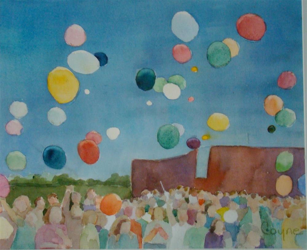 """birthday"" original fine art by meribeth coyne"