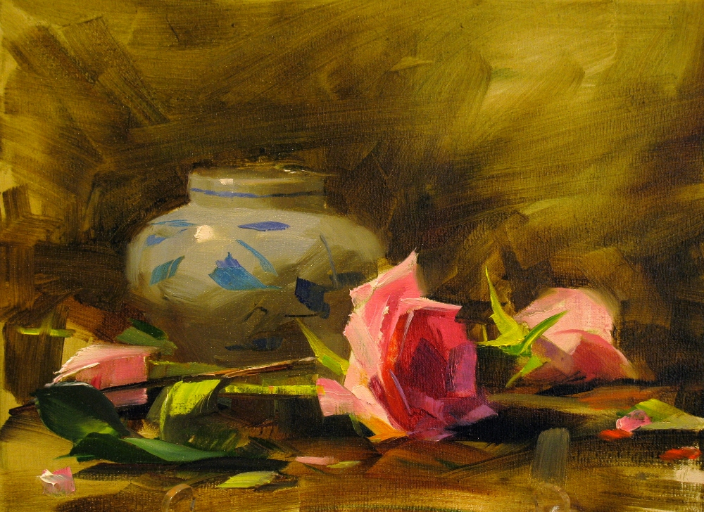 """""""Demo at New Braunfels 2 --- Sold"""" original fine art by Qiang Huang"""