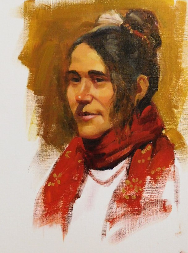 """""""Portrait drawing and painting classes"""" original fine art by Kathy Weber"""