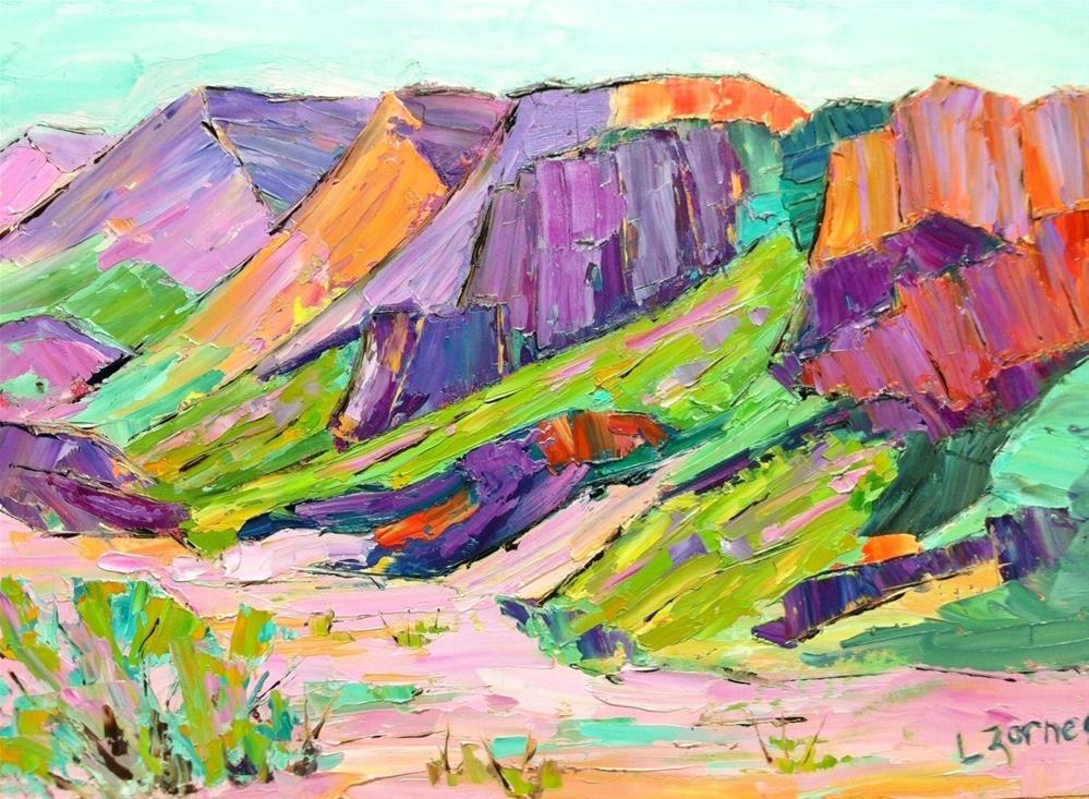 """Dry Gulch Big Bend"" original fine art by Liz Zornes"