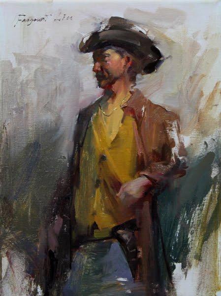 """""""Cowboy"""" original fine art by Fongwei Liu"""