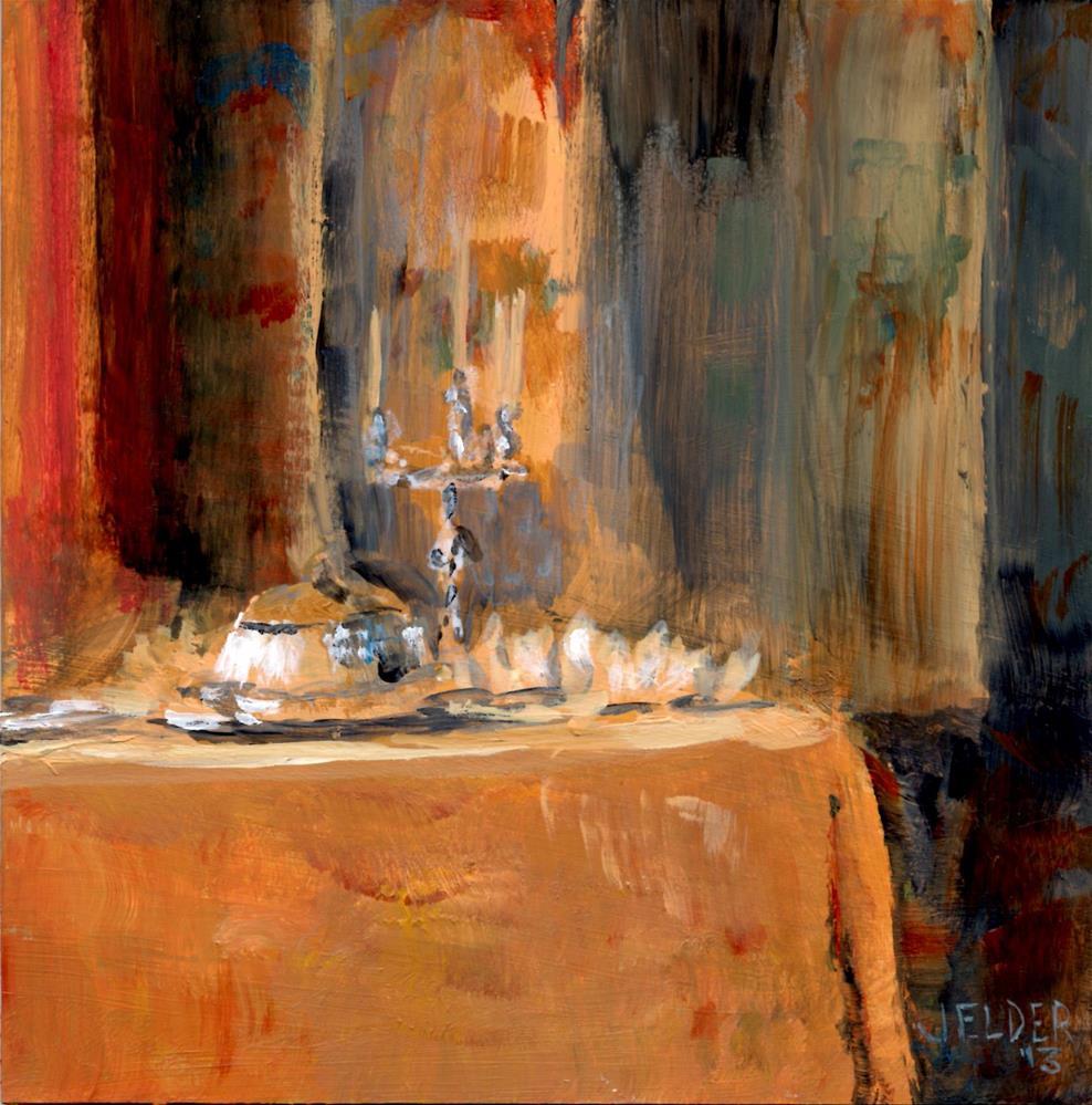 """""""Dinner Fit For a Queen"""" original fine art by Judith Elder"""