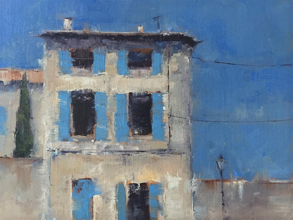 """The One with the Blue Shutters"" original fine art by Julie Davis"