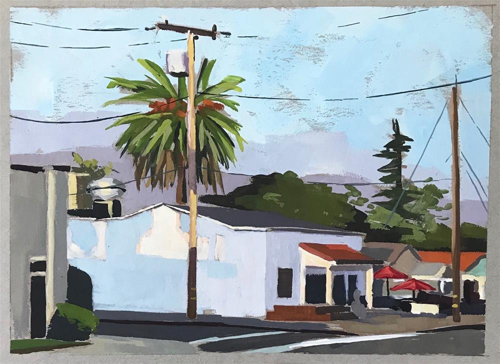"""Carpinteria Avenue"" original fine art by Sharon Schock"