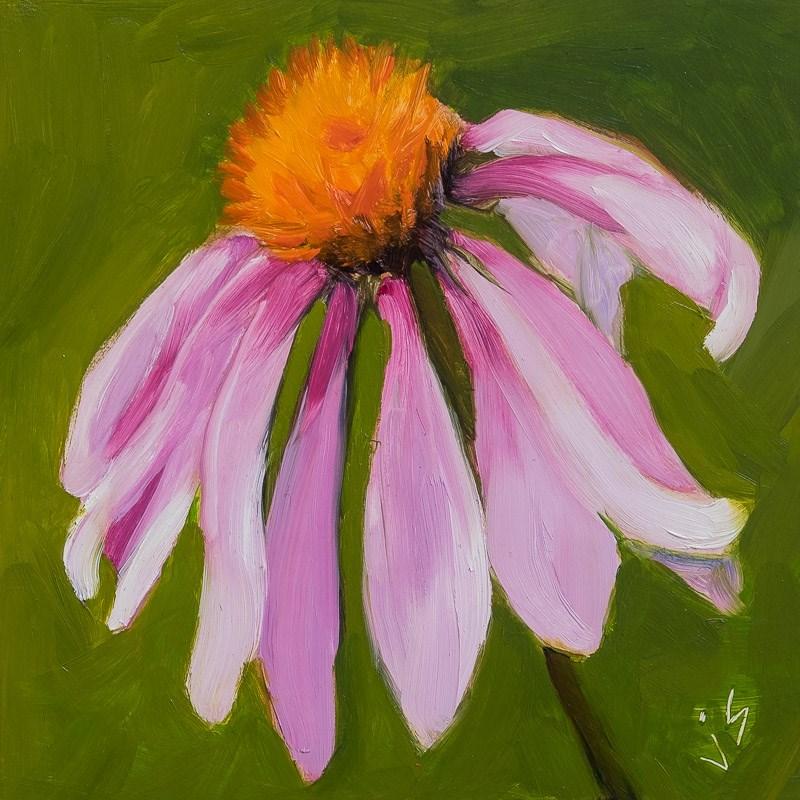 """""""Coneflower"""" original fine art by Johnna Schelling"""