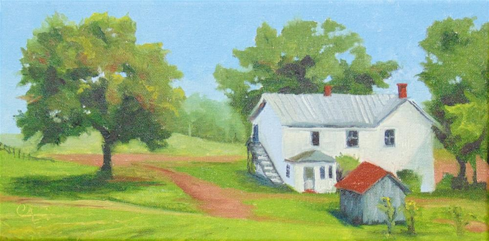 """Virginia Farmhouse"" original fine art by Catherine Kauffman"