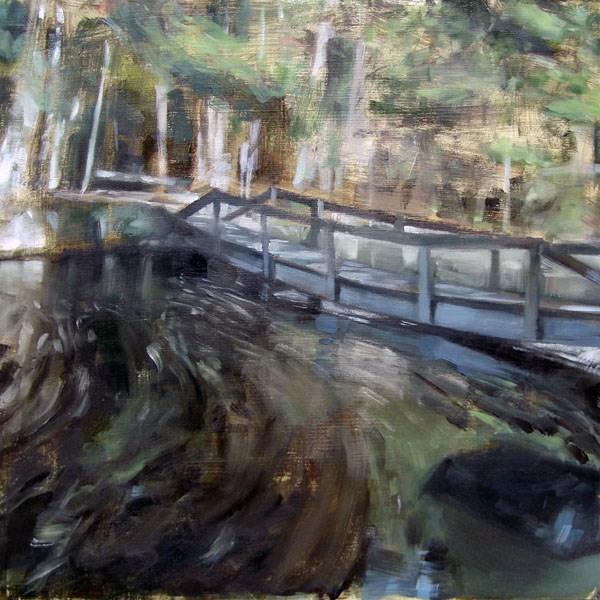 """Broadmoor Bridge, Natick MA (no.66)"" original fine art by Michael William"