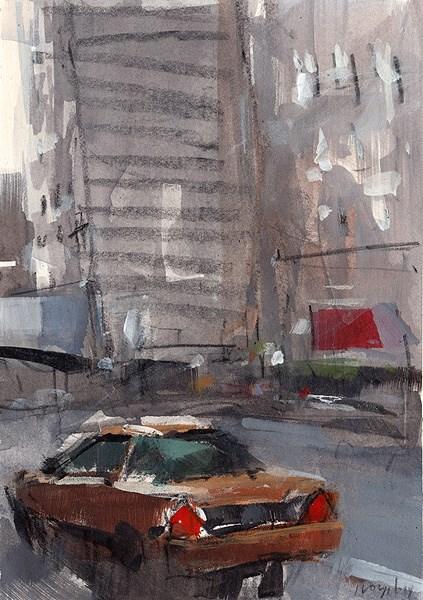"""""""Taxi - Sketch"""" original fine art by David Lloyd"""