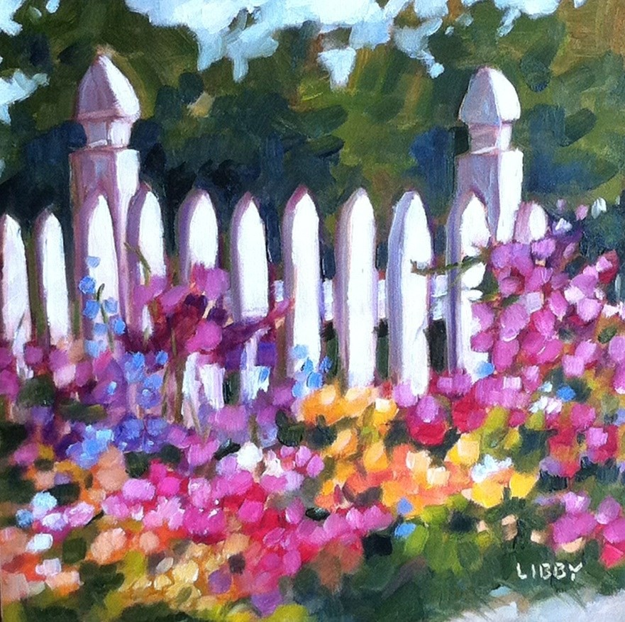 """""""Key to the Garden"""" original fine art by Libby Anderson"""