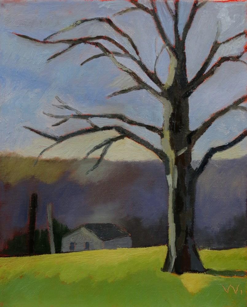 """Silver Ridge Farm"" original fine art by Joan Wiberg"