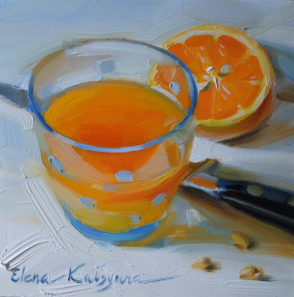 """Freshly Squeezed"" original fine art by Elena Katsyura"