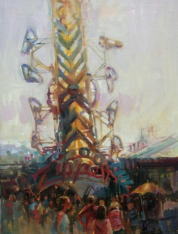 """Fair Day"" original fine art by Mary Maxam"