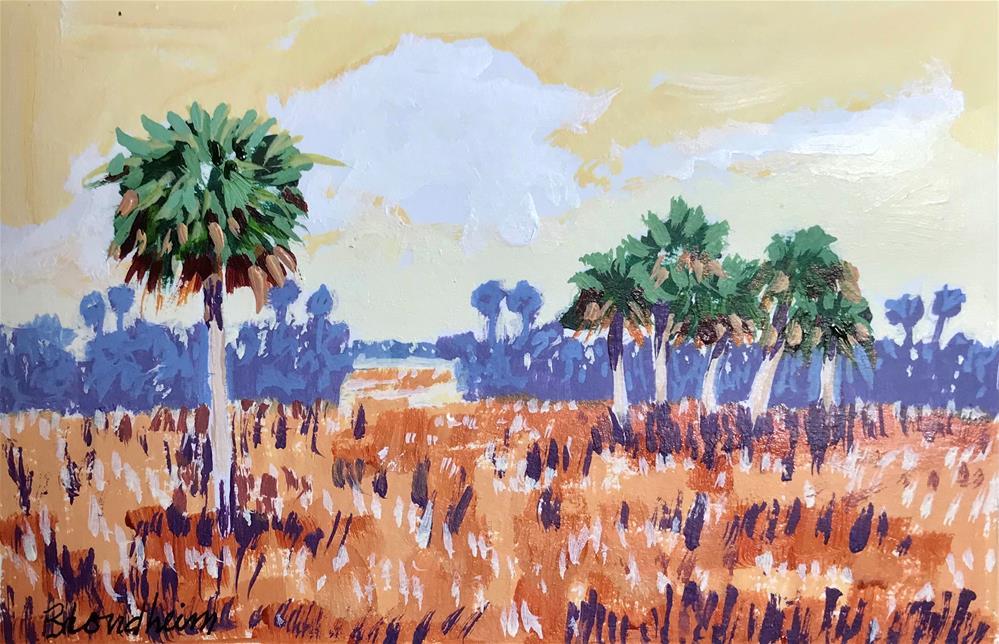 """""""Prairie Palms"""" original fine art by Linda Blondheim"""