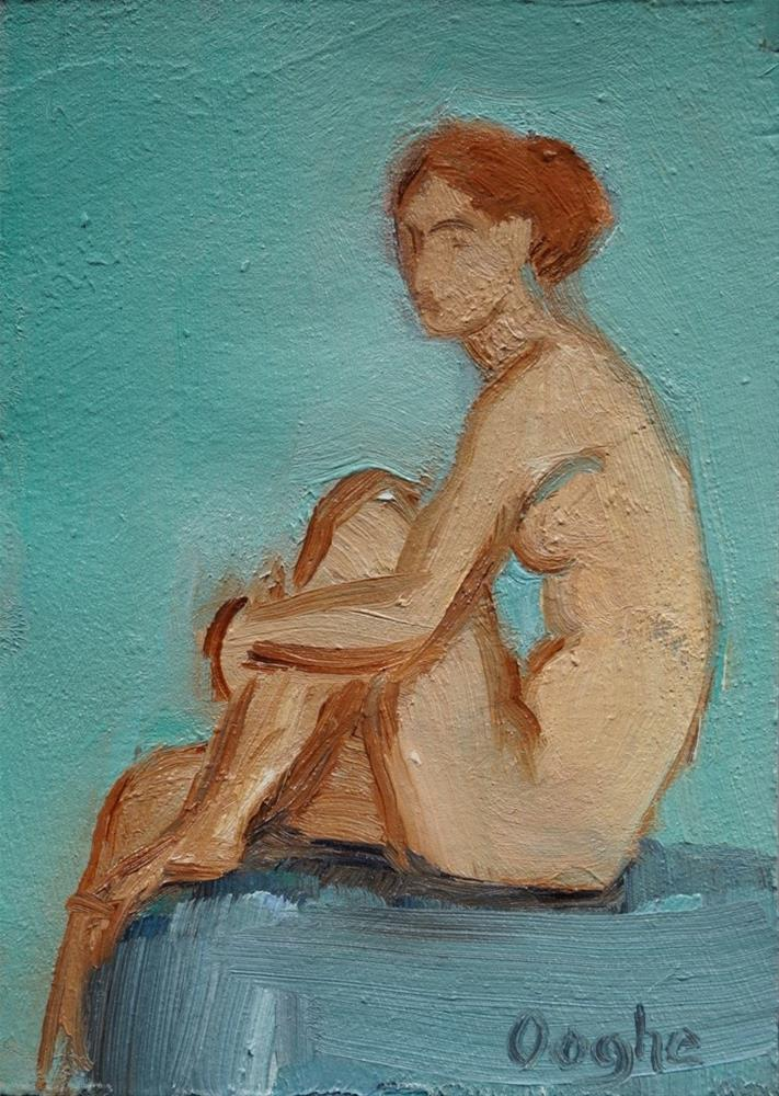 """""""Red Haired Nude"""" original fine art by Angela Ooghe"""