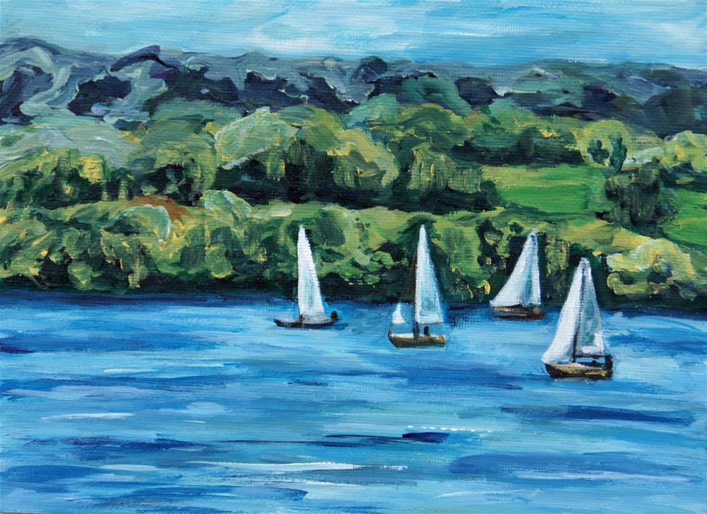 """""""Am Bodensee"""" original fine art by Eva Grünwald"""