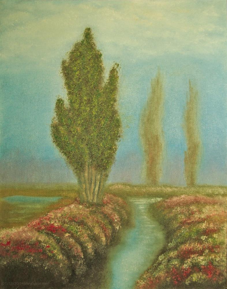"""Landscape 09"" original fine art by Mary Sylvia Hines"