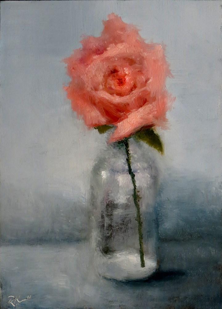 """A Pink Rose"" original fine art by Bob Kimball"
