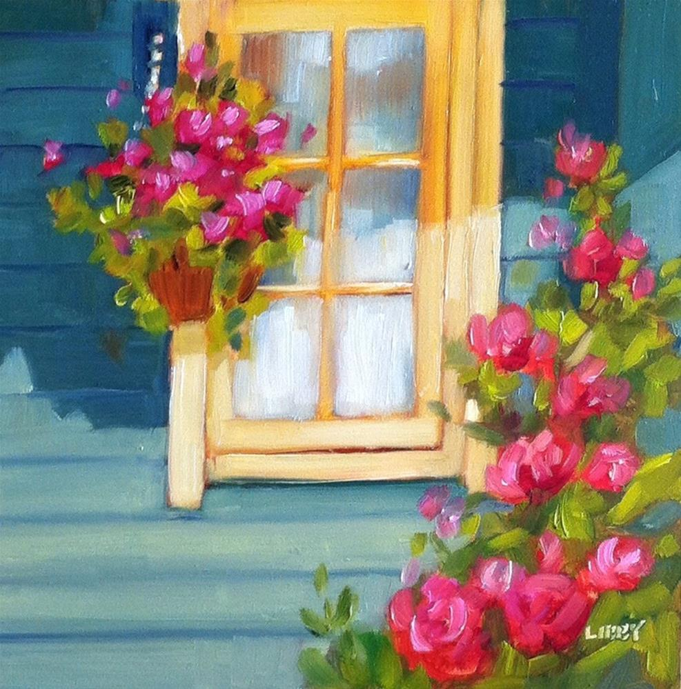 """Sun and Shadow Porch"" original fine art by Libby Anderson"