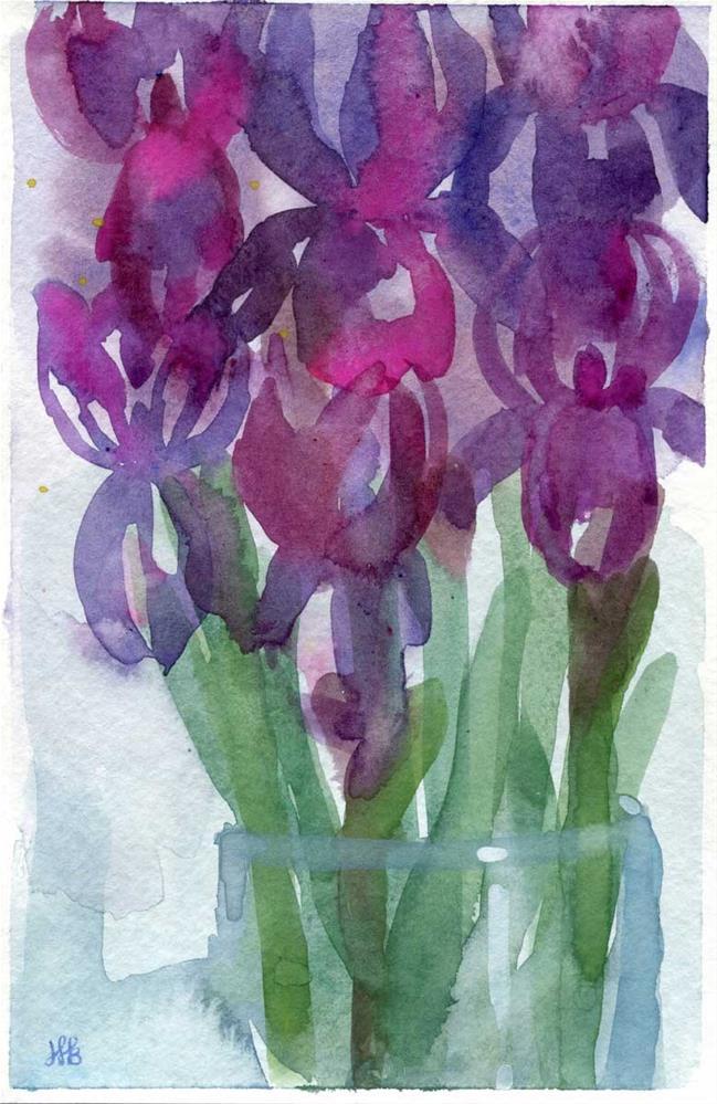 """""""Iris Bunch"""" original fine art by Heather Bennett"""