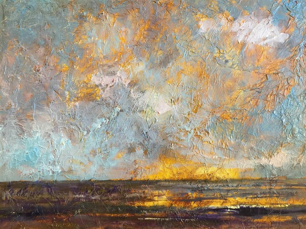"""""""Sunset, Contemporary Landscape Paintings by Amy Whitehouse"""" original fine art by Amy Whitehouse"""