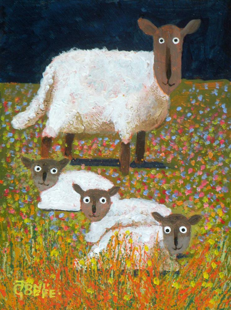 """We Three and Dad"" original fine art by Toni Goffe"