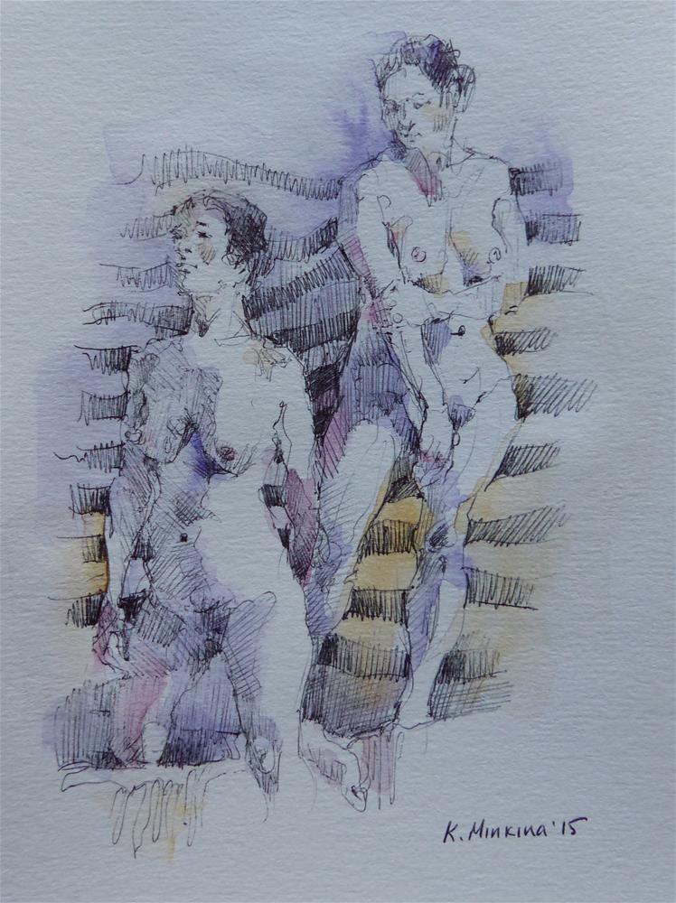 """sketchbook#1"" original fine art by Katya Minkina"