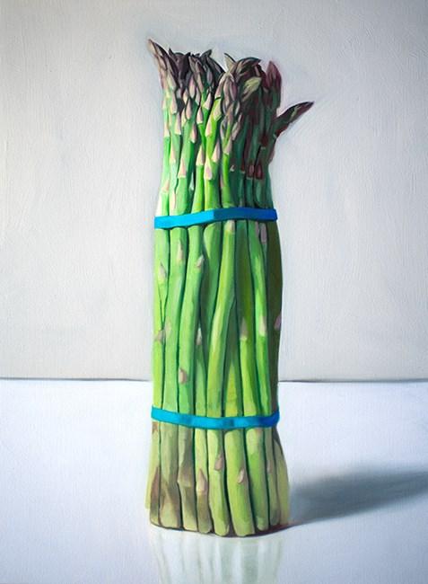 """""""Upright Asparagus"""" original fine art by Lauren Pretorius"""