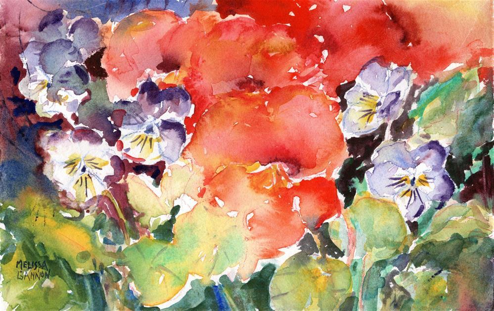 """Flower Celebration"" original fine art by Melissa Gannon"