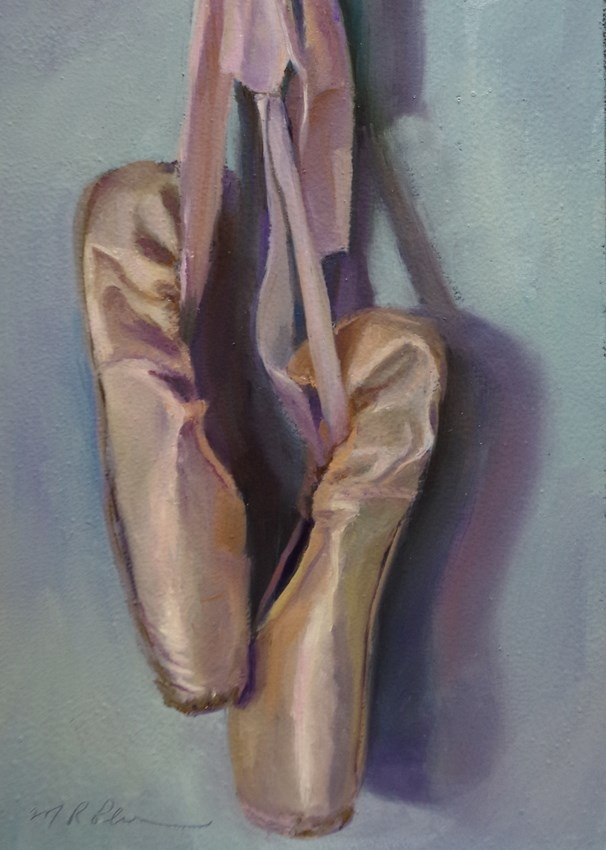 """Pointe to Pointe"" original fine art by Marilyn R. Place"