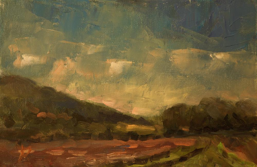 """""""The Downs at Storrington"""" original fine art by Andre Pallat"""