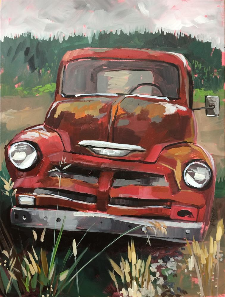 """""""This Old Truck Commission"""" original fine art by Teddi Parker"""