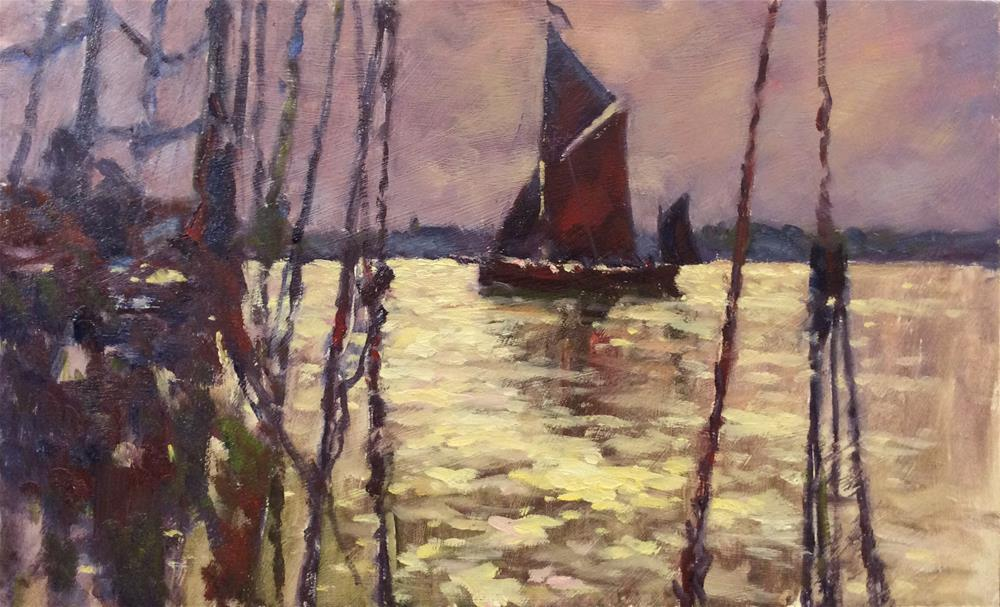 """""""During The Barge Match"""" original fine art by John Shave"""